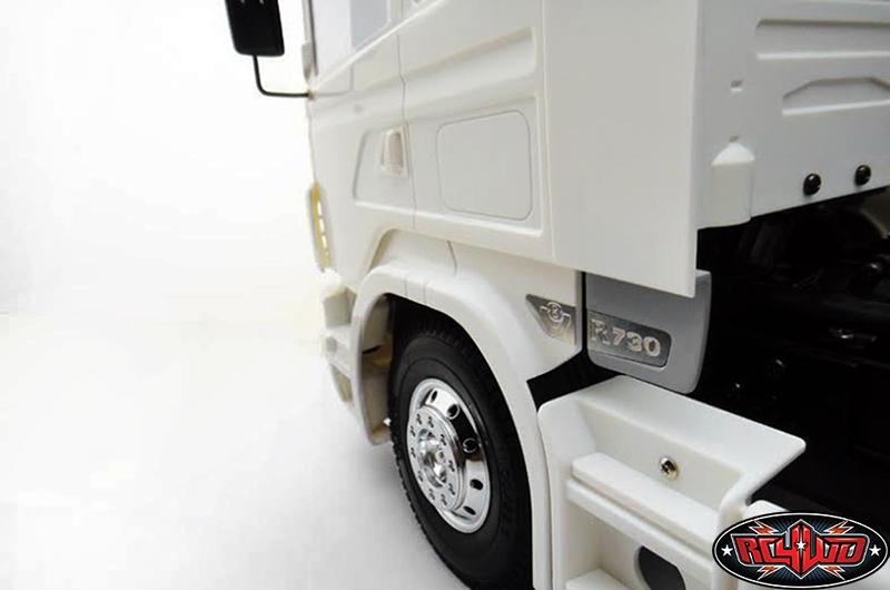 Spoiler with SCANIA logo for Tamiya 1/14 Scania