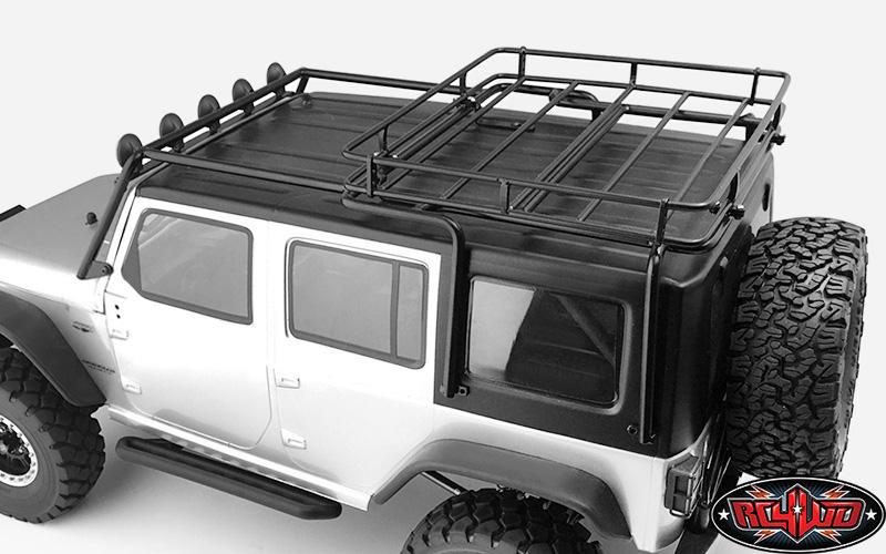 Wrangler Roof Rack >> Metal Roof Rack For Axial Scx10 Wrangler W Roof Rack Lights