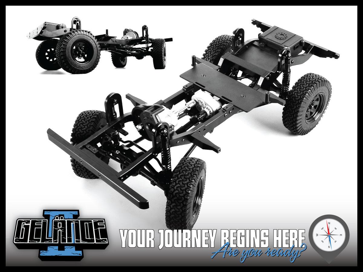 RC4WD Gelande II Truck Kit w/D90 Body Set