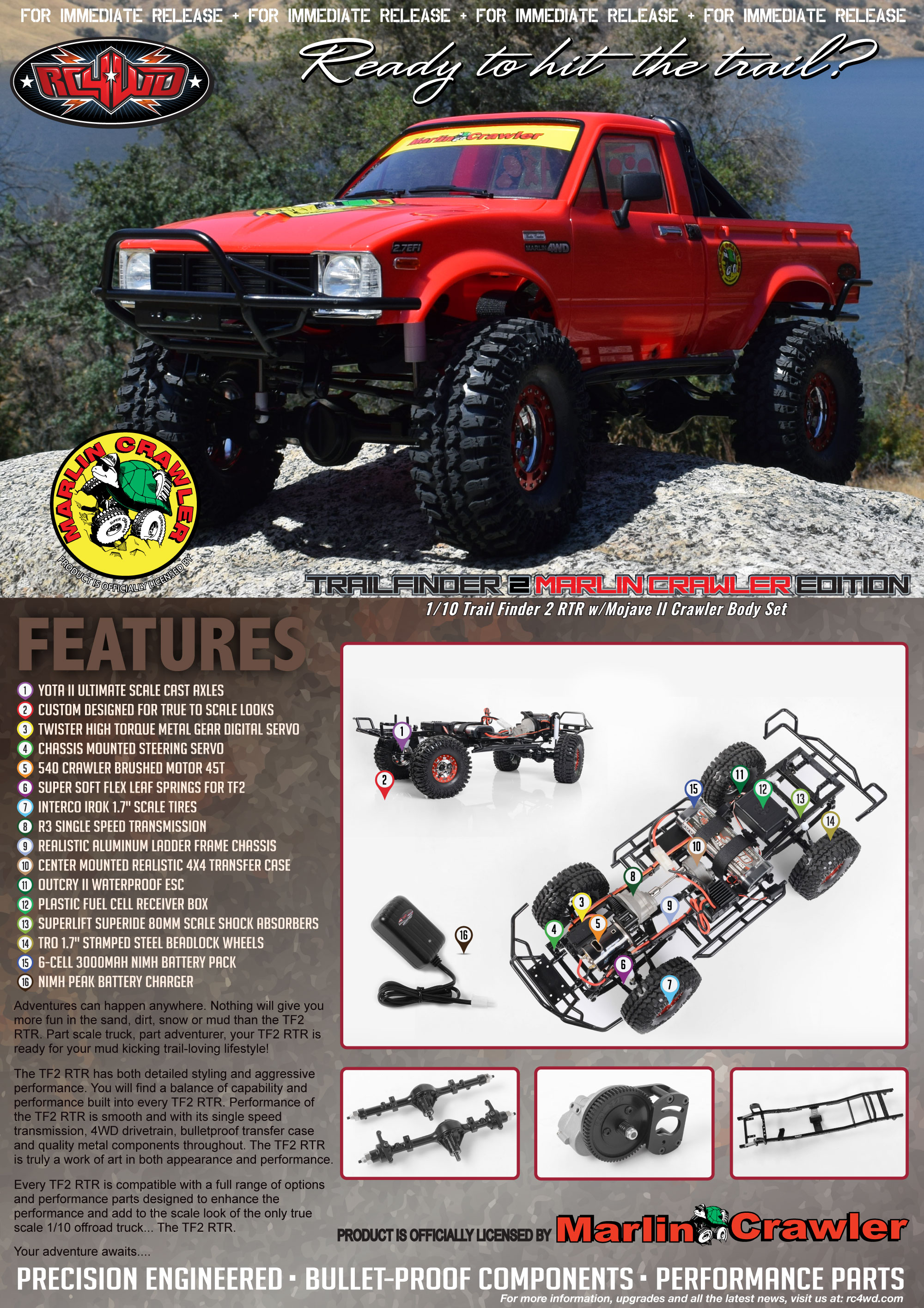 RC4WD TF2 Manual Trail Finder 2 Scale Scaler Rock Crawler