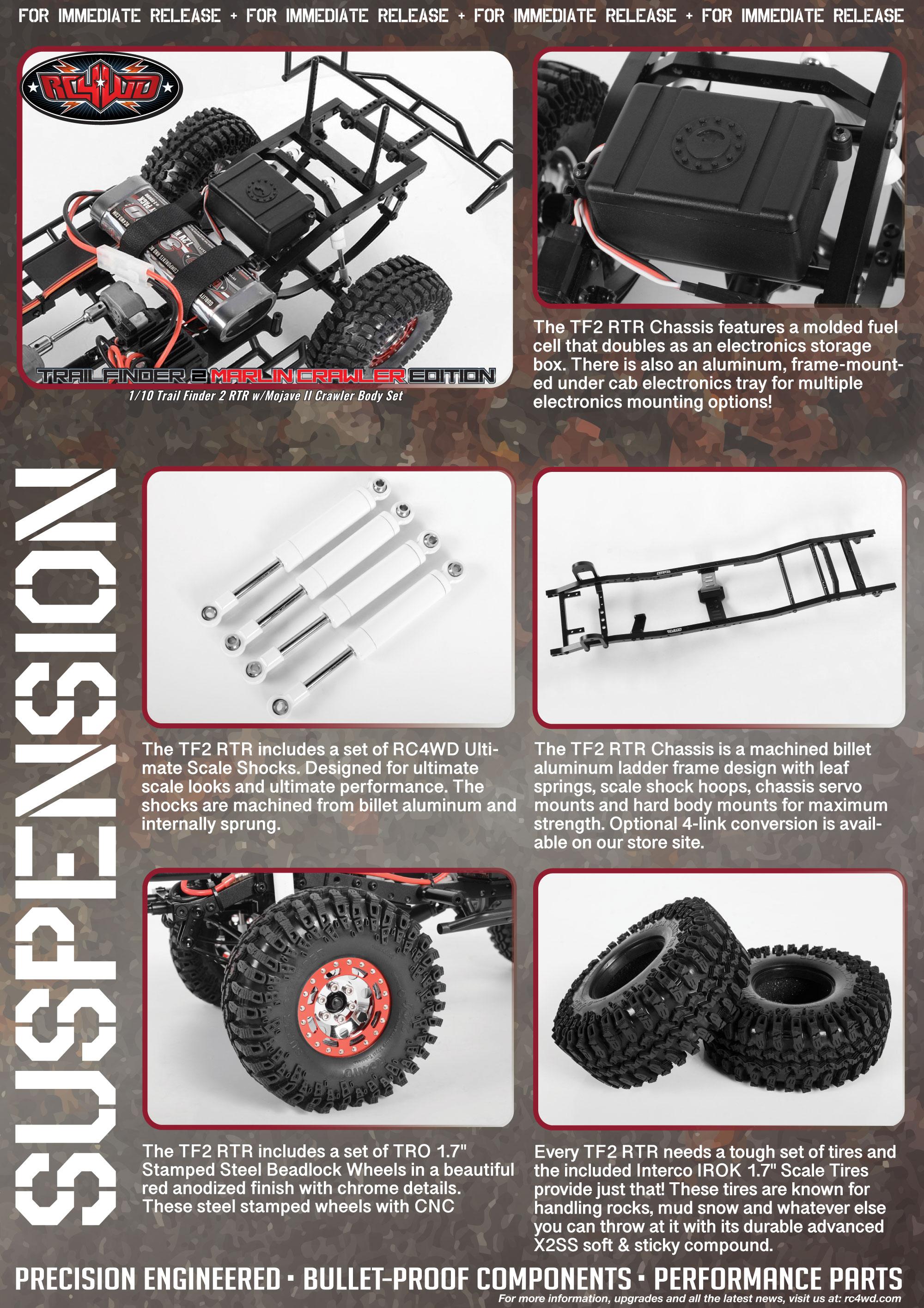 RC4WD Marlin Crawler Trail Finder 2 RTR w/Mojave II Crawler Body Set