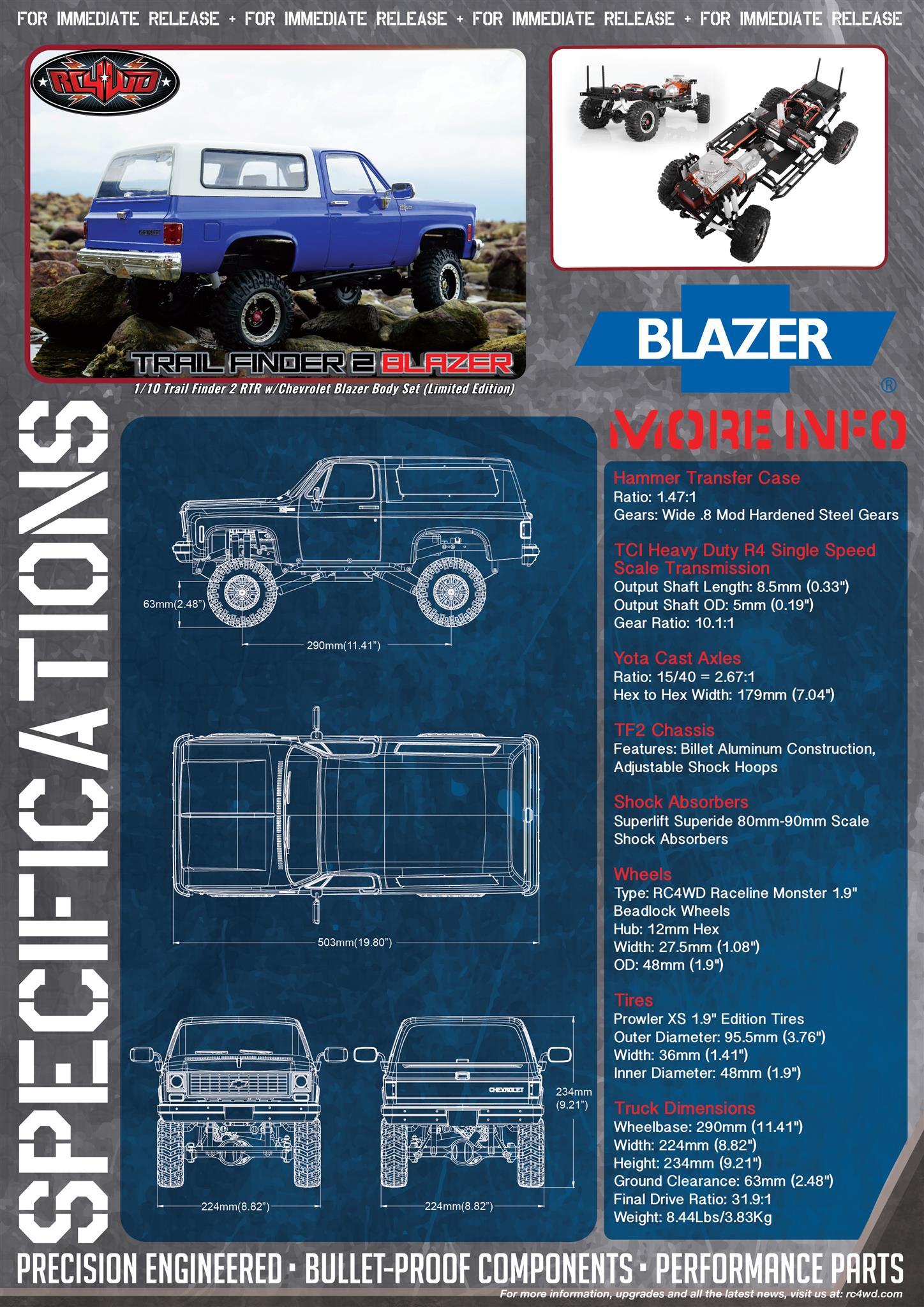 RC4WD Trail Finder 2 RTR w/Chevrolet Blazer Body Set (Limited Edition)