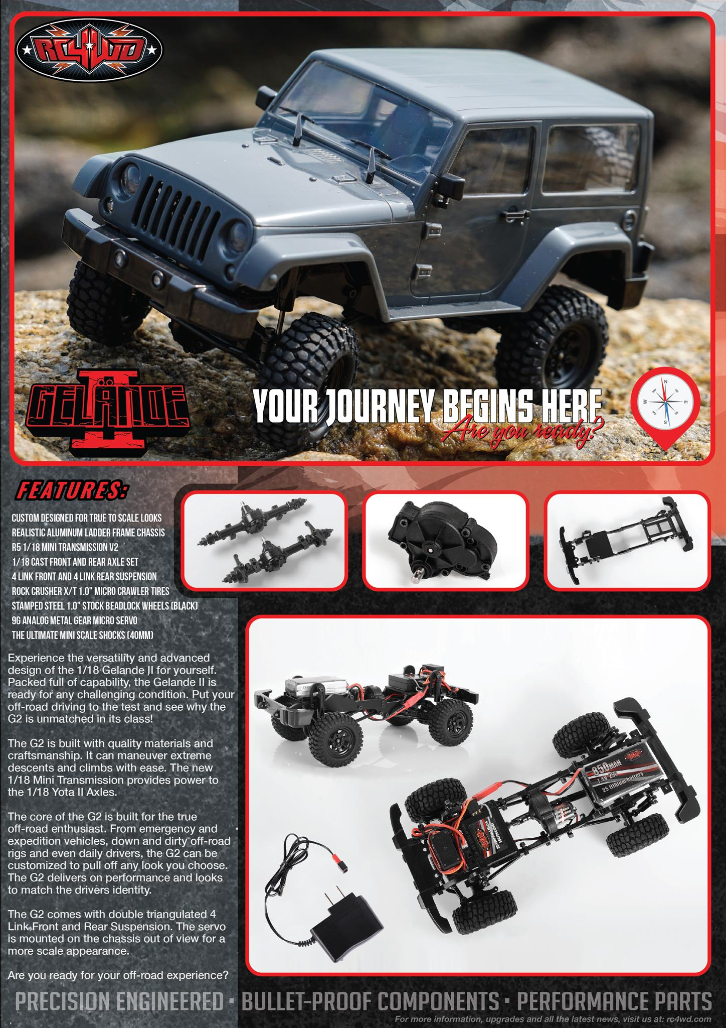 Rc4wd 1 18 Gelande Ii Rtr W Black Rock Body Set Jeep Suspension Parts Experience The Versatility And Advanced Design Of For Yourself Packed Full Capability Is Ready Any Challenging