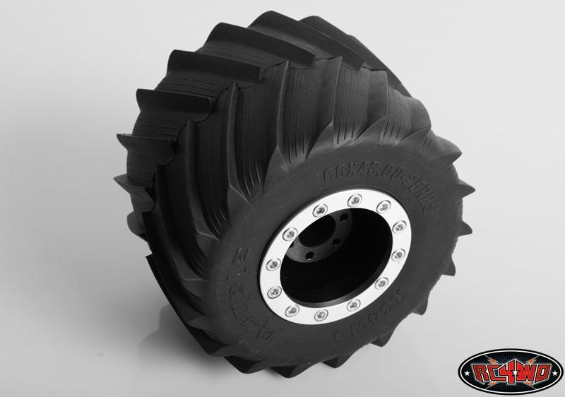 Universal Monster Truck Beadlock Wheels V2 For Tamiya Clod Buster (Black  Delrin)