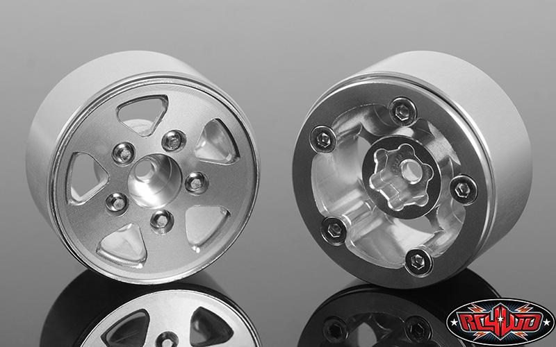 "NEW 1.0"" Black Plastic Beadlock Rock Crawler Wheels SCX24//RGT//FTX//HP//HBX//ECX"
